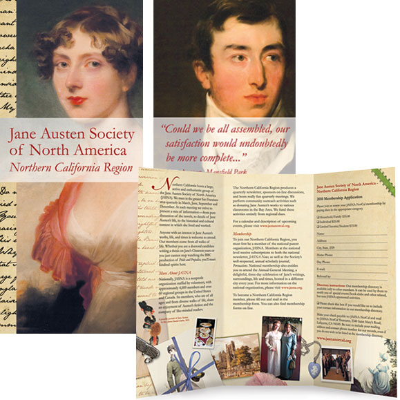 Jane Austen Society of North America - Northern California Region membership brochure